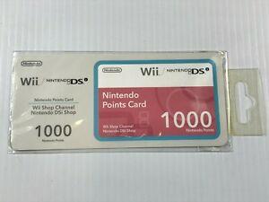 Nintendo Wii / DSi  Channel / Shop , 1000 Points , Sealed New , Australian