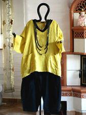 19084B LABASS 2019 Leinen Kurz Shirt Taschen MERLE acidogelb L 44 46