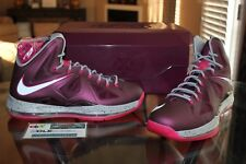 Deadstock Lebron 10 X SP Crown Jewel Fireberry Special Box Sports Pack Size 11
