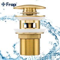 Basin Sink Waste Slotted Pop Up Click Clack Sprung Plug Overflow for Bathroom