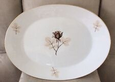 """#2 ROSENTHAL Selb-Germany SHADOW ROSE 15"""" Oval Serving Platter"""