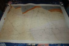 "1862 Leigh Warrington Wigan. 1st Os Geological Survey 6"" To Mile Hand Coloured"