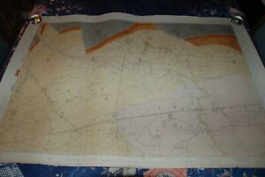 """1862 LEIGH WARRINGTON WIGAN. 1st OS GEOLOGICAL SURVEY 6"""" TO MILE  HAND COLOURED"""