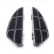 2x Black Footpeg Foot Board Rider / Driver Floorboard For Harley Touring 1984-15