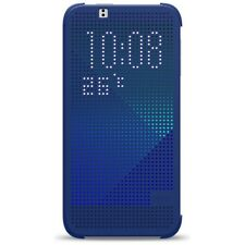 HTC Custodia originale Dot View Flip Cover Plastica rigida Blu per Desire 510
