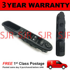 ELECTRIC POWER MASTER WINDOW SWITCH PANEL FOR PEUGEOT 307 SW ESTATE 2000 On