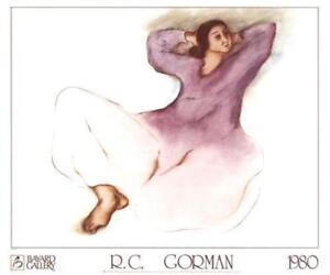 Jeanette by R. C. Gorman Art Print Southwest Native Latin 1980 Poster 25x30