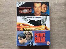 Point Break/Transporter/Broken Arrow DVD Triple Boxset! Look At My Other DVDs!