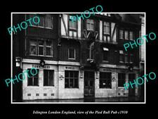 OLD POSTCARD SIZE PHOTO ISLINGTON LONDON ENGLAND THE PIED BULL PUB c1930