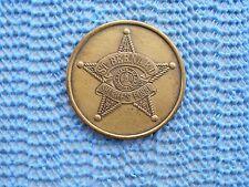 1967 St. Bernard Sheriff'S Pose antique bronze Mardi Gras Doubloon - 1st year