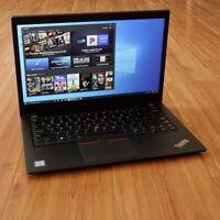 Lenovo ThinkPad T480s Laptop i5-8350U 1.7GHz 16GB 14 FHD 1920x1080 256GB SSD WTY