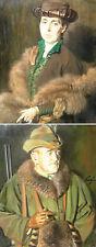 """Paul Segieth 1884-1969 / 2 Gemälde """"Ehepaar Knauff"""" Schloss Monsheim 1919 Worms"""