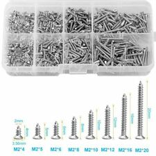 Self Tapping Screws 800 Pieces Stainless Steel Wood Screw Assortment Small Metal