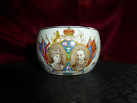 Vintage KING GEORGE V & Queen Mary SILVER JUBILEE 1910-1935 Unusual Sugar Bowl
