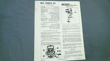1957 Evinrude Fastwin Electric Data Bulletin BU_15922_57 - 20 Pages