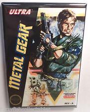 "Metal Gear Nintendo NES Vintage Game Box  2""x3"" Fridge Locker MAGNET"