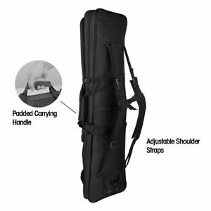 """36"""" Black Tactical Rifle Range Gun Carry Case Double Padded Backpack Molle Bag"""