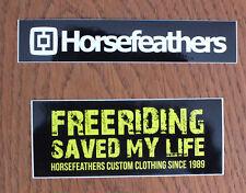 2 X Sticker Aufkleber Horsefeathers Snowboard Freeride Ski Outdoor (S040)