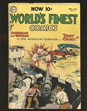 World's Finest Comics # 72 (scarce) Fair Cond. cover detached, tape on cover