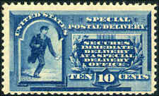 1885 US Stamp #E1 Perf 12 Mint OG Special Delivery Catalogue Value $550