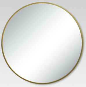Project 62 Round Decorative Wall Mirror Brass 32""