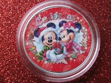 """2019 Silver Eagle Colorized """"Mickey & Minnie Mouse""""ER Merry Christmas POP 1 OF30"""