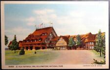 Postcard Old Faithful Inn, Yellowstone National Park 1929 - Haynes