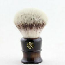 Frank Shaving G4 Synthetic Fiber Shaving Brush Faux Horn Handle 28MM Knot Size
