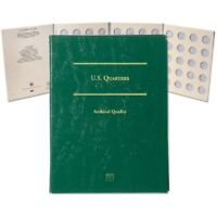 Blank Coin Folder for US Quarters LCFQ Archival Quality Gift Album by Littleton