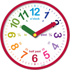 Acctim Lulu Teach Time Clock Learn How To Tell Time (Red)