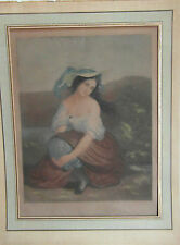 Lithographie  ancienne couleur GARNIER d'après ANDRE XIXe