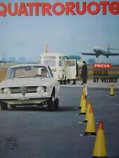 Quattroruote n°134 1967  - Test su strada Alfa Romeo Giulia Sprint Gt Ve  [Q79B]