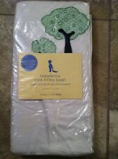 Pottery Barn Kids FARMPATCH CRIB SHEET NEW Embroidered Sheep Trees White