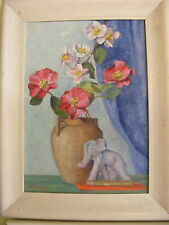 Old Canadian Oil Painting M.MacGregor (Werder) Still Life 1940's