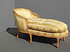 Vintage French Provincial Gold CHAISE LOUNGE Goose Down Feathers Cushion