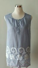 $69.50 Talbots Top Blouse Lace 100% Cotton Size XL 16-18  NWT