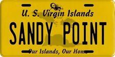 Sandy Point Beach St. Croix U.S. Virgin Islands Aluminum License Plate