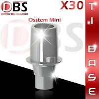 30X Dental Implant Ti-Base For Osstem / Hiossen For Mini Platform With Hex