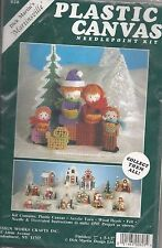 """MARTINSVILLE CAROLERS"" - Xmas Plastic Canvas Needlepoint Kit by Design Works"