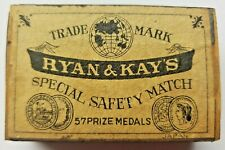 "Vintage Trade Mark ""Ryan & Kay's"" Special Safety Match 57 Prize Medal Match Box"