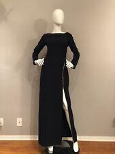 Nordstroms MARLENE OLIVIER Victoire Asymmetric Zip Long Sleeve Evening Gown