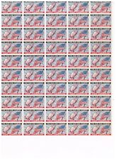 Us Cinderella 1943 Hands in prayer and Flag . Full sheet Xf Og Never Hinged