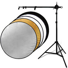 43in 5-in-1 Photograph Video Reflector Stand Kit With Collapsable Reflectors