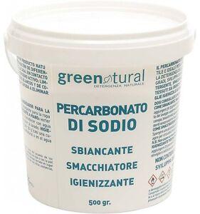 PERCARBONATO DI SODIO 100% PURO SECCHIELLO DA 500 GR. smacchiatore igienizzante