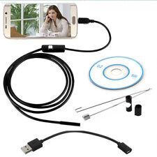 B309 8E14 2M 7MM IP67 Android Endoscopio Cámara de inspección USB Boroscopio LED Tubo