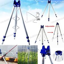 Outdoor Sea Beach Pond Telescopic Fishing Rod Rests Tripod Stand Support 5 Rods
