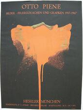Otto piene (1928-2014) Fuoco guazzi ORIG serigrafie Heseler 1971 zero