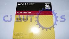 INDASA DOUBLE SIDED ACRYLIC FIXING STICKY BADGE MOUNTING ADHESIVE TAPE 12mm x10M