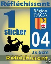 1 adesivo catarifrangente dipartimento 04 Catarifrangente registrazione MOTO