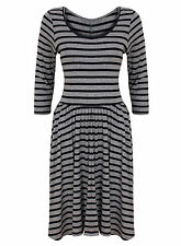Polyester Long Sleeve Striped Plus Size Dresses for Women